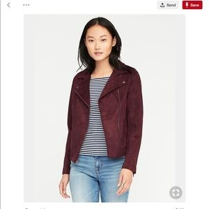 ISO Old Navy Suede Knit Moto size Medium
